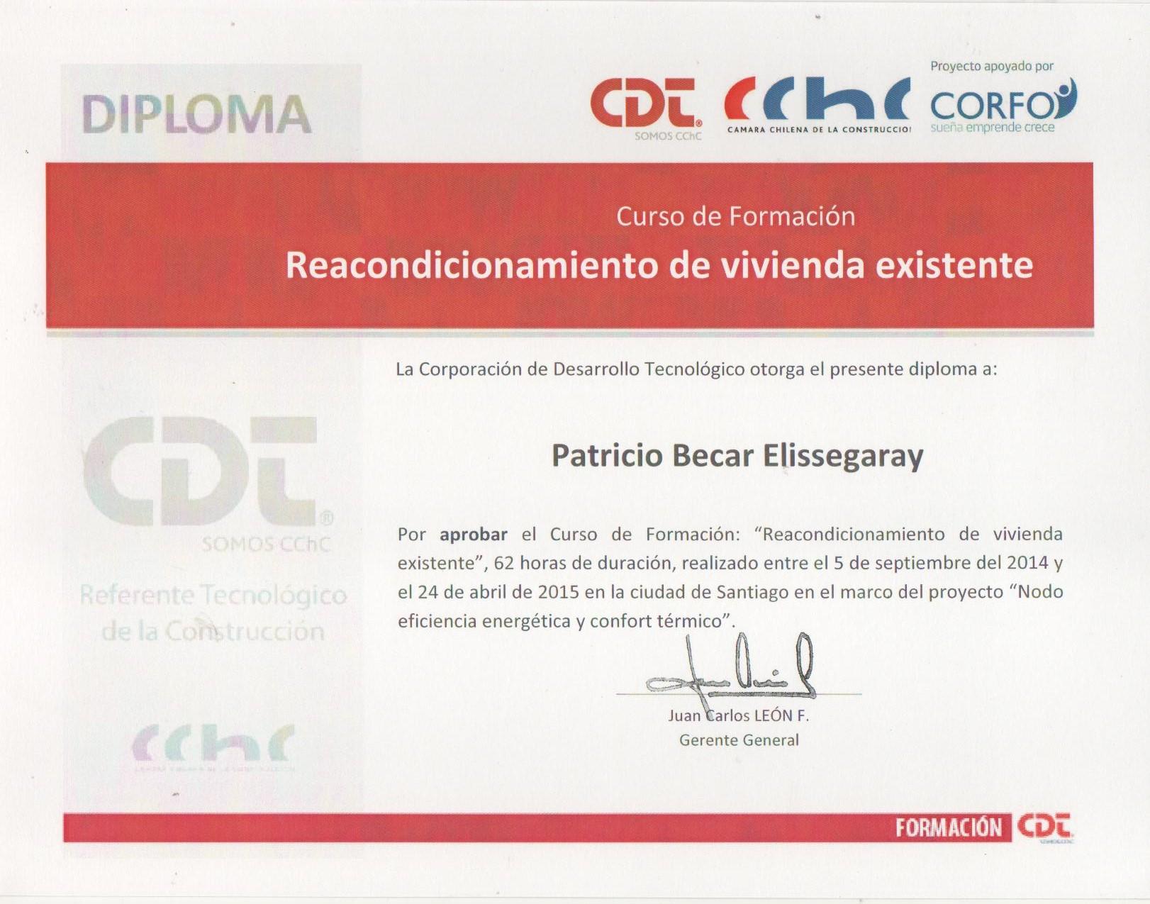 Diploma Reacondicionamiento Termico de Casas