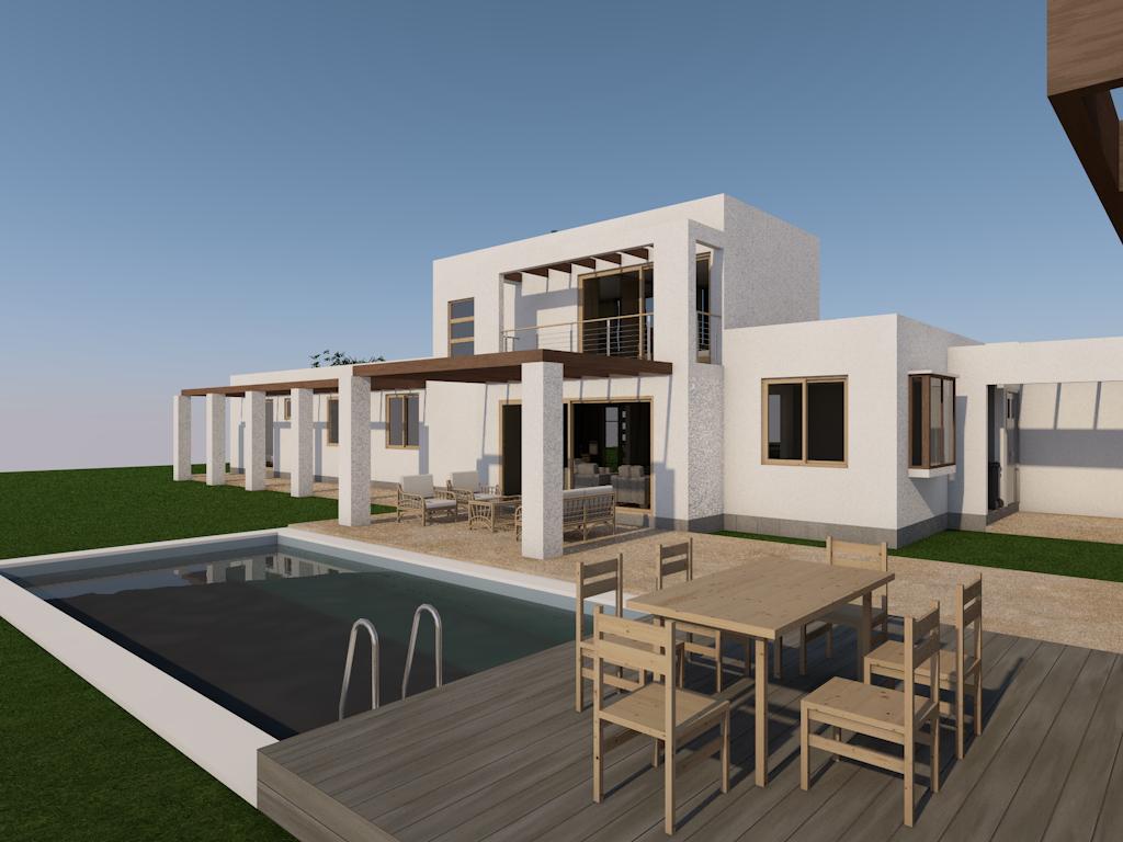 Casa Mediterranea En Lago Rapel Proyecto De Arquitectura